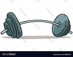 Weights Measures Chart Cartoon Metal Weights Barbell Icon