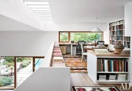 Image Interior In Stephen Harveys Mezzanine Office Of His Sagaponack New York Retreat An Arne Jacobsen Pendant Light Architectural Digest 50 Home Office Design Ideas That Will Inspire Productivity