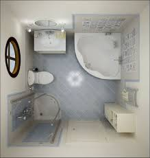 Exquisite Images Of Cute Small Bathroom Design And Decoration Ideas :  Delectable White And Blue Small