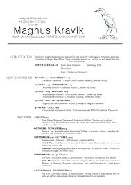 Animator Resume Magnus Kråvik's Animation Portfolio CV Resume For Study 86