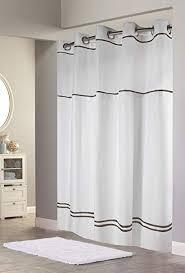 Image Amazon Amazonca Hookless Rbh40my040 Monterey Shower Curtain Whiteblack