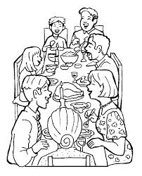 Familie Kleurplaat Diner