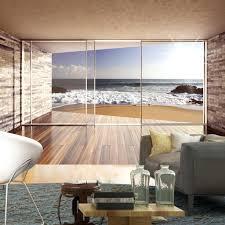 Fenster Tapete Vlies Architektur Terrasse Balkon Holzwand Motiv New