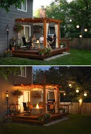 backyard pergola with string lighting can often be a wonderful place of gathering of family and friends