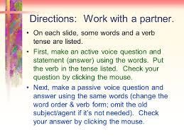 Active Passive Voice Review Simple Present Simple Past Tenses