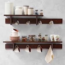 kitchen furniture cabinets. Ibex Kitchen Wall Shelf Set (Dark Walnut Finish) By Urban Ladder Kitchen Furniture Cabinets