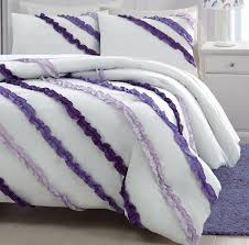 white and purple comforter sets best 25 ruffled ideas on ruffle 3