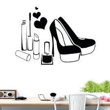 shoes wall art shoes high heels makeup lipstick beauty salon girls wall art stickers decals vinyl shoes wall art high heel