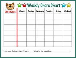 Details About A5 Children S Tiger Weekly Chore S Chart Picture Poster Kids Bedroom Reward
