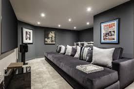 sparkling dark gray decorating ideas home theater