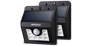 Solar Light Packs Green Deals 2 Pack Of Mpow 8 Led Solar Outdoor Lights For