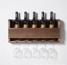 rustic reclaimed wall mounte wood wine rack bespoke shabby chic anniversary gift intl