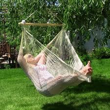 Sunnydaze Large Mayan Chair Hammock With Wood Bar | Outdoor Furniture