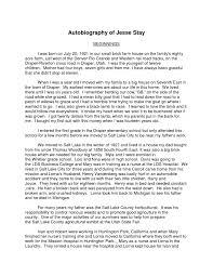 Sample Biographical Essay Biographical Essay Example Autobiographical Kleo Bergdorfbib