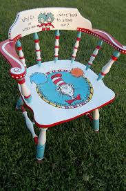whimsical furniture and decor. Whimsical Dr. Seuss Chair Painted By Jody Rife. Furniture And Decor E
