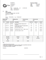 Purchase Order Format Doc Purchase Order Template Business Doc Pinterest Invoice