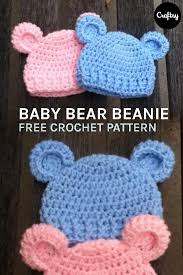 Newborn Crochet Patterns Adorable Baby Bear Simple Baby Beanie CrochetHats Pinterest Simple