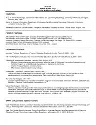 Cv Psychology Graduate School Sample Free Resume Templates