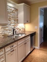 stone veneer kitchen backsplash. Wonderful Unique Kitchen Interior Design White Cabinets Copper Hood Stone Backsplash Wood Flooring | New House Veneer