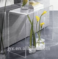plexiglass furniture. long narrow living room furniture acrylic plexiglass console table c