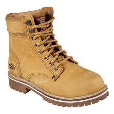 skechers work boots. women\u0026#x27;s skechers work brooten steel toe boot caramel boots