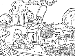 The Simpsons Coloring Pages Wallpaperxy Com