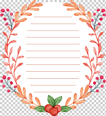Floral Design Watercolor Painting Watercolor Plant Border
