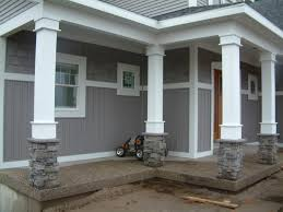exterior column wraps. Exterior Column Wraps Attractive Image Of Front Porch Decoration Using Grey Stone M
