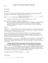 Sample Retirement Resignation Letters