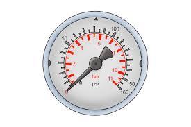 water pressure gauge bar. water pressure gauge dial, 11 bar scale