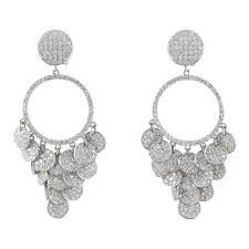 pave diamond chandelier earrings