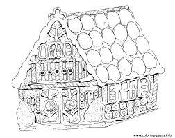 Gingerbread House Coloring Sheets Campoamorgolfinfo