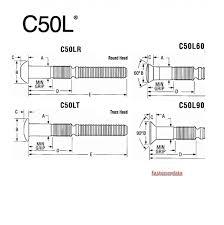 Fastenerdata Huck C50l Lock Bolt Fastener Specifications