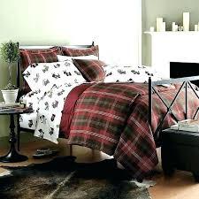 buffalo check flannel sheets plaid duvet cover