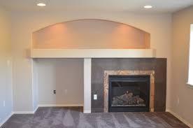 finished basement fireplace