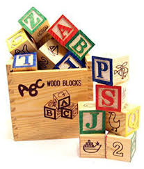 rotle abc 123 wooden blocks letters numbers with box storage case wooden 27 pieces