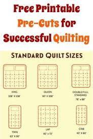 Another handy chart for making quilts twin through king. Shows the ... & Standard quilt sizes: FREE Printable Pre-Cuts for Successful Quilting! Adamdwight.com