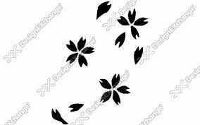 桜の花びら クリップアート年賀状戌年の年賀状イラストデザイン