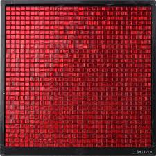 gm15 10 waterproof sqaure red glass mosaic tile hotel luxurious wall decor