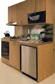small spaces efficiency kitchen units mini   gas burner cooktop electric oven with convection bake wall cabinets