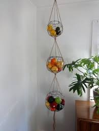 Handmade Three Tier Wire Sphere Basket Set with by CharestStudios  Hanging  Fruit ...