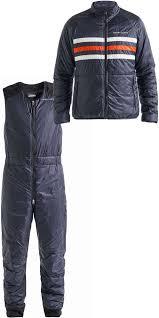 2019 Henri Lloyd Mens Fremantle Stripe Liner Jacket Salopettes Combi Set Navy Blue