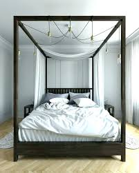 Four Poster Bed Bedroom Contemporary With White Bedding Cat ...
