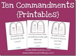 Free Printable Ten Commandments Coloring Pages Color Bros