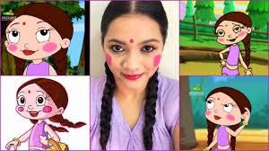 the indian cartoon chhota bheem chutki inspired makeup look pavithra iyer you