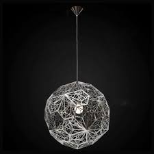 hang lighting hollow silver chandelier chrome pendant light round ceiling lamp