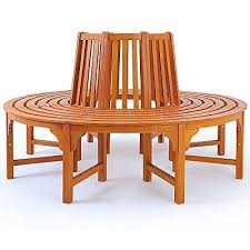 garden tree bench round outdoor seat patio furniture eucalyptus bedroomlicious patio furniture