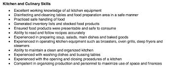 Kitchen And Culinary Resume Skills - Http://resumesdesign.com ...