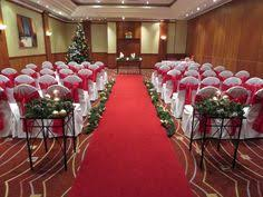 wedding ceremony set up in the european suite at newcastle gateshead marriott metrocentre