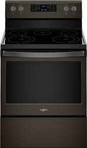whirlpool 5 3 cu ft self cleaning freestanding electric range black stainless
